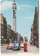 London: HILLMAN MINX V ESTATE, TRIUMPH HERALD CONVERTIBLE, VAUXHALL VICTOR FB  - Mailbox - Post Office Tower - Toerisme