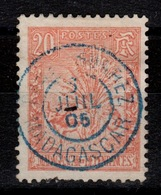 Madagascar YV 69 Zebu Obliteration DIEGO-SUAREZ - Oblitérés