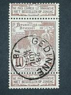 COB N ° 73 Oblitération Gedinne 1897 - 1894-1896 Expositions