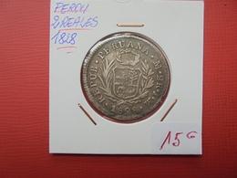 PEROU 2 REALES 1828 ARGENT - Pérou