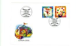 Luxembourg 2002-Europa Cirque-FDC - Cirque