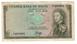 Malta 1 Pound 1967 Queen Elizabeth - Malta