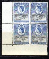 QUS174 - KENYA UGANDA & TANGANYIKA SG166 1954 ROYAL VISIT  In Splendida Quartina Integra ***  MNH - Montserrat
