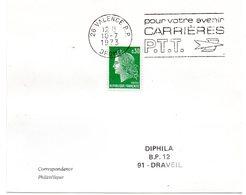 DROME - Dépt N° 26 = VALENCE RP  1973 =  FLAMME à DROITE = SECAP Multiple ' CARRIERES PTT / Pour Votre Avenir ' - Marcophilie (Lettres)