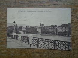 """Genève , Pont Du Mont-blanc Et Cathédrale De Saint Pierre """""""" Carte Animée De 1923 """""""" - GE Genève"""