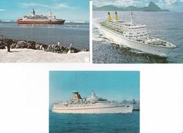 CP - Polaire - Antarctique - Navires : LINDBLAD EXPLORER - EUGENIO C. - DAPHNE - Falkland Islands