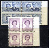 QUS177 - NUOVA ZELANDA New Zealand 1953 Royal Visit Set   In Splendida Quartina Integra   *** - Nuova Zelanda