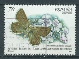 ESPAGNE SPANIEN SPAIN ESPAÑA 2000 BUTTERFLY- FLOWER, MARIPOSA-FLOR USED 70 PTAS ED 3695 YV 3262 MI 3528 SG 3634 SC 3024 - 1931-Hoy: 2ª República - ... Juan Carlos I
