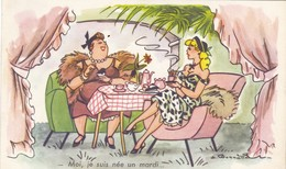 """CARTE FANTAISIE. RARETÉ.  BONNOTTE  ILLUSTRATEUR. FEMMES  """" Moi Je Suis Née Un Mardi......."""" ANNEE 1963. - Bonnotte"""