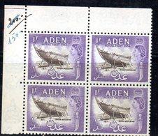 QUS180 - ADEN 1954 Royal Visit N. 63   In Splendida Quartina Integra   *** - Aden (1854-1963)