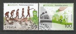 Serbien  2016  Mi.Nr. 667 / 668 , EUROPA CEPT - Think Green - Gestempelt / Used / (o) - Serbien