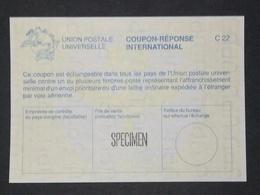 Coupon Réponse International C22 Surchargé SPECIMEN - Documents De La Poste
