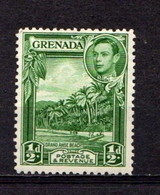 GRENADA      1938     1/2d  Yellow  Green   Perf  12 1/2    MNH - Grenada (...-1974)