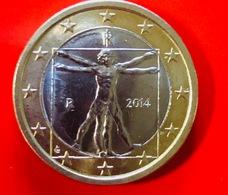 ITALIA - 2014 - Moneta - Proporzioni Ideali Del Corpo Umano, Disegno Di Leonardo Da Vinci - Euro 1.00 - Italie