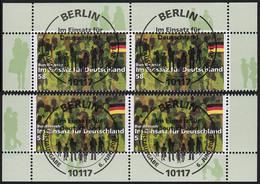 3015 Bundeswehr Im Einsatz Für Deutschland, Vier Bogenecken Mit ESST Berlin - BRD