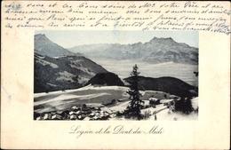 Cp Leysin Kt. Waadt Schweiz, Ville Et La Dent Du Midi En Hiver - VD Vaud