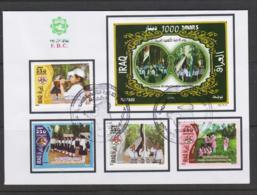 SCOUTS -  IRAQ -2010 - SCOUTS SET OF 4 + S/SHEET ON FIRST DAY COVER - Lettres & Documents