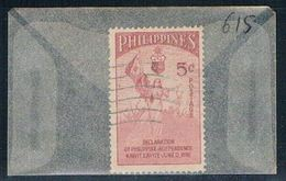 Philippines 615 Used Allegory Of Independence 1954 (P0215) - Philippines