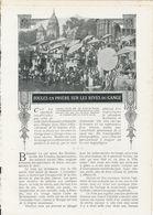 Foules En Prières Sur Les Rives Du Gange  /  Article , Pris D`un Magazine / 1912 - Livres, BD, Revues