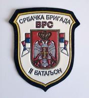 Original Bosnian War Patch 1992-1995, Srbac Brigade, 2nd Battalion, VRS, Republika Srpska Army, Bosnia And Herzegovina - Ecussons Tissu