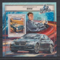 I212. Sierra Leone - MNH - 2016 - Transport - Cars - BMW - Bl - Non Classés