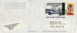 USA - LYONS IL - FIRE EQUIPMENT -  AUTOBOTTE  ANTI INCENDIO - POMPIERI  SCALA - Pompieri