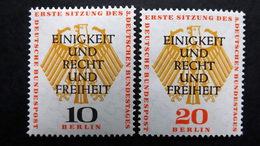 Deutschland Berlin 174/5 **/mnh, Erste Konstituierende Sitzung Des 3. Deutschen Bundestages In Berlin - Unused Stamps