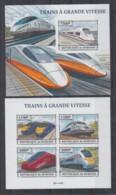 U605. Burundi - MNH - 2013 - Transport - Trains - Modern Trains - Imperf - Non Classés