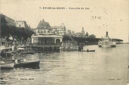 EVIAN-LES-BAINS - VUE PRISE DU LAC - POSTED 1930 ~ AN OLD POSTCARD #88604 - Evian-les-Bains