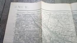Carte  Type 1889 Saumur  Service Géographique De L'armée Carroyage Kilométrique Projection Lambert Zone Centrale - Cartes Topographiques