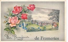 CPA - Belgique - Un Bonjour De Frameries - Frameries