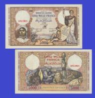 Algeria  5000  Francs 1942 - Algérie