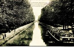 12999  - Yonne - LA ROCHE MIGENNES :  Canal De Bourgogne - Péniche DRIGEARD Et Promeneurs  Circulée En 1911 - Frankreich