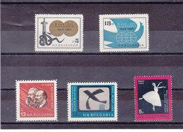 BULGARIE 1965  Yvert  1303-1304 + 1341-1343 NEUF** MNH - Bulgarie