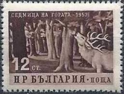 1957 BULGARIE 899** Cerf Et Arbres, Issu De Série - 1945-59 République Populaire