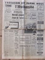 Journal L'Humanité (30 Nov 1964) Tshombé - Mariner IV - Bébés Sambor - Chanson - Journaux - Quotidiens