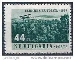 1957 BULGARIE 901** Forêt Et Avion - 1945-59 République Populaire