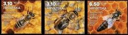 HR 2019-1365-7 Fauna. Carniolan Honey Bees. HRVATSKA CROATIA, 1 X 3v, MNH - Abeilles