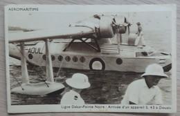 AÉROMARITIME - Ligne Dakar-Pointe Noire - Arrivée D'un Appareil S. 43 à Douala - 2 Scans. - 1919-1938