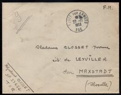 POSTE AUX ARMEES - TOE - INDOCHINE / 1953 SP57652 LETTRE POUR MAXSTADT - MOSELLE (ref 2334) - Marcophilie (Lettres)