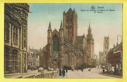 * Gent - Gand (Oost Vlaanderen) * (Ed Nels, Série Gand, Nr 47) église Saint Nicolas, Belfroi Et église Saint Bavon, Tram - Gent