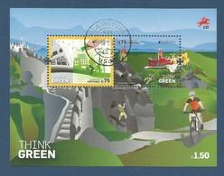 Portugal  2016  Mi.Nr. 4134 / 4135 , Block 394 , EUROPA CEPT - Think Green - Gestempelt / Used / (o) - 2016
