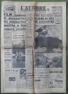 Avril 1961.Conquête De L'Espace,Youri Gagarine.Camp De Gitans,explosion En Foret De Marly.Procès Eichmann.Nice.Metz. - Journaux - Quotidiens