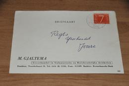 1    BEDRIJFSKAART M. GJALTEMA, DRACHTEN - 1955 - Kaarten