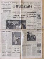 Journal L'Humanité (1er Déc 1964) Tshombé - Bombe H - Travailleurs Immigrés - Chanson - G Chaplin - Journaux - Quotidiens
