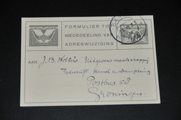 2    FORMULIER TOT MEDEDEELING VAN ADRESWIJZIGING, BAARN - 1944 - Altri