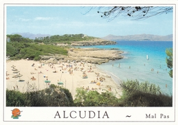 Spain Mallorca Alcudia Playa De Es Mal Postcard 1996 Mailfast Postmark Used Good Condition - Ohne Zuordnung