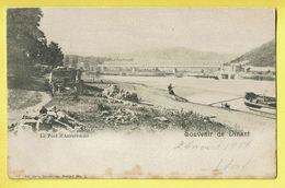 * Anseremme (Dinant - Namur - La Wallonie) * (Ed Nels, Série 7, Nr 2) Le Pont D'Anseremme, Canal, Quai, Bateau Péniche - Dinant