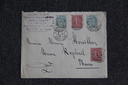 Timbres Sur Lettre D'AUBENAS Vers NIMES - Lettres & Documents