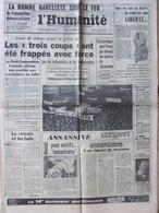 Journal L'Humanité (3 Déc 1964) Péron échoue - Madrid Liberté - Chanson - A Barrière H Aufray - Journaux - Quotidiens
